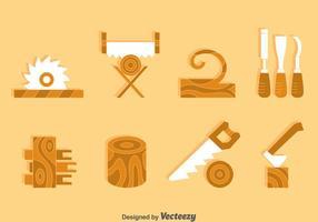 Vetor do elemento de artesanato de madeira
