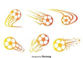 Vetor do movimento da bola de futebol