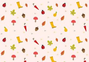 Vetor de padrão de outono livre