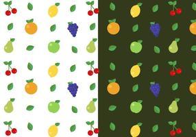 Vector de padrões de frutas grátis