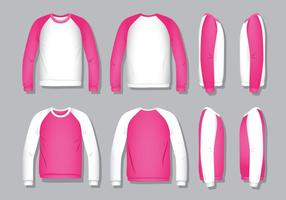 Camisa raglana - rosa vetor