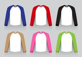 Camisa raglana - design plano vetor