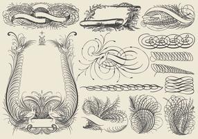 Desenhos ornamentais de riscas vetor