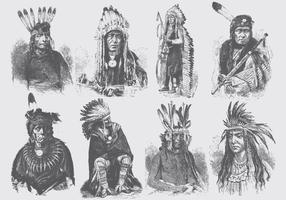 Povo nativo americano vetor