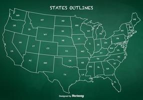 Vetor de contornos de estado livre