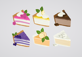 Ilustração da torta do vetor