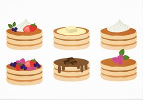Pancakes do vetor