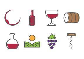Ícones do vinho vetor