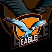 logotipo de esports da águia vetor