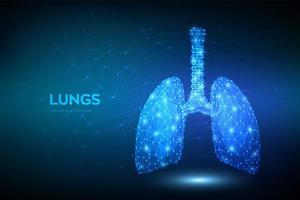 respiratória humana poligonal baixa vetor
