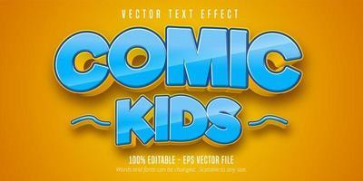 efeito de texto de crianças em quadrinhos