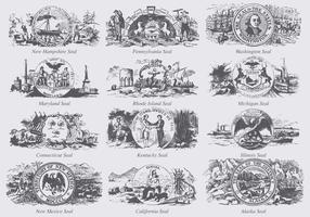Selos dos estados dos EUA vetor
