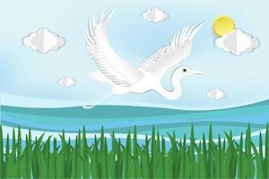 pássaro voando no céu sobre a água