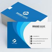 cartão azul da empresa vetor