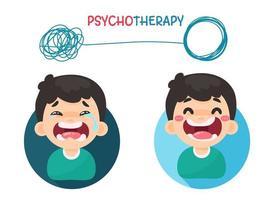 pensamentos de psicoterapia com mudanças de humor vetor