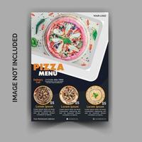modelo de panfleto de entrega de pizza de restaurante