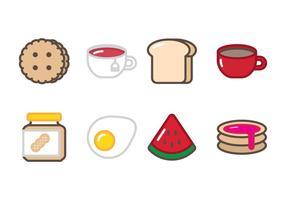 Ícone de café da manhã vetor
