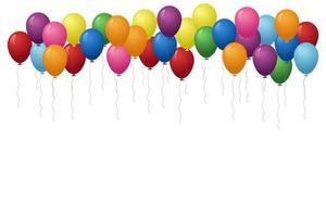 balões multicoloridos flutuando vetor