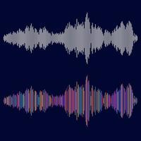 ondas sonoras definidas multicoloridas vetor