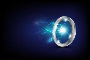 design de luz de energia vetor