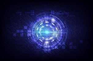 projeto de tecnologia de circuito e internet roxo vetor