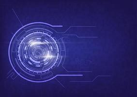 conceito de comunicação de tecnologia abstrata roxa
