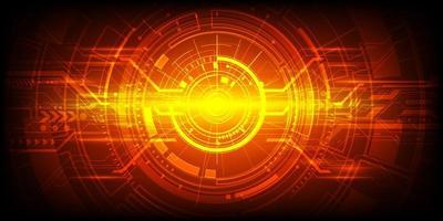 projeto de tecnologia de engenharia abstrata vermelho e laranja vetor