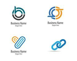 conjunto de logotipo minimalista corporativa vetor