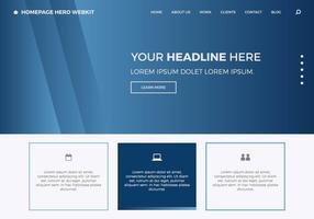 Homepage gratuita Hero Webkit 7 vetor