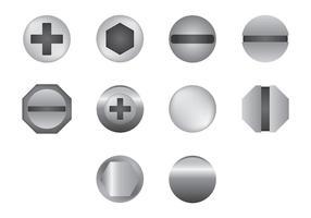 Vetor grátis de ícones de cabeças de unha