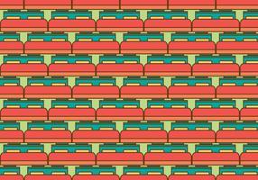 Ilustração grátis do padrão de vetor de colchão