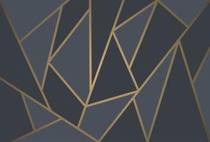 papel de parede de mosaico em preto e dourado vetor