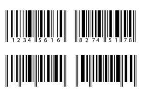 código de barras conjunto isolado no fundo branco vetor