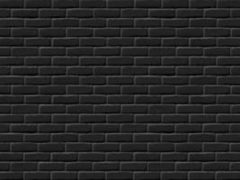 parede de tijolo preto vetor
