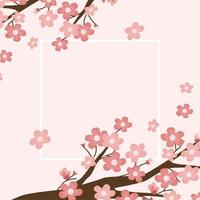 ilustração de fundo de flor de cerejeira vetor
