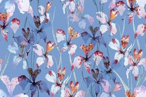 padrão sem emenda de orquídea em aquarela