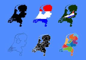 Vetor de mapa de netherland grátis