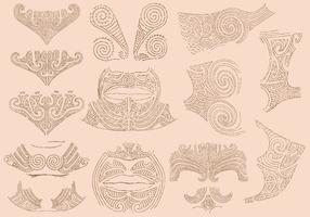 Tatuagens Maori vetor