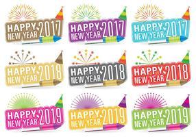 Títulos de Ano Novo vetor
