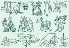 Ilustrações de Boyscout vetor