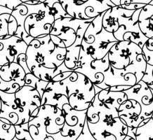 teste padrão floral vintage vetor
