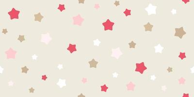 padrão de estrela sem costura engraçado vetor