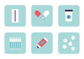 Conjunto de medicamentos vetor