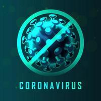 gráfico de símbolo de aviso de coronavírus