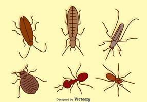 Coleção Pest Hand Drawn vetor