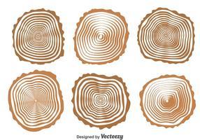 Vetor de coleção de registros de madeira