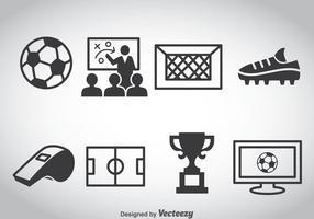 Vetor de ícones de elementos de futebol