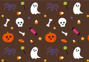 Vetor de padrões de Halloween grátis