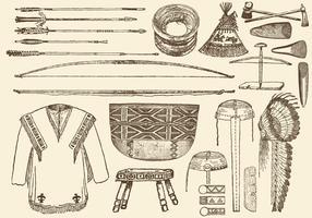 Material Nativo Americano vetor