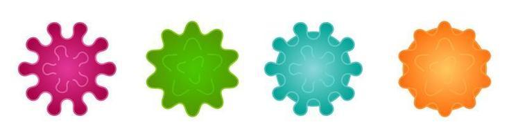 conjunto de desenhos animados de vírus e bactérias vetor